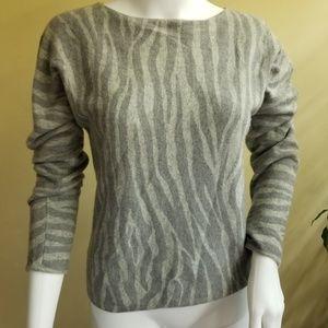 Anne Klein cashmere animal print sweater